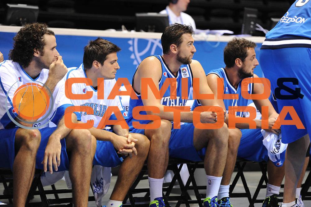 DESCRIZIONE : Siauliai Lithuania Lituania Eurobasket Men 2011 Preliminary Round Serbia Italia Serbia Italy<br /> GIOCATORE : Team Italia<br /> SQUADRA : Italia Italy<br /> EVENTO : Eurobasket Men 2011<br /> GARA : Serbia Italia Serbia Italy<br /> DATA : 31/08/2011 <br /> CATEGORIA : delusione<br /> SPORT : Pallacanestro <br /> AUTORE : Agenzia Ciamillo-Castoria/G.Ciamillo<br /> Galleria : Eurobasket Men 2011 <br /> Fotonotizia : Siauliai Lithuania Lituania Eurobasket Men 2011 Preliminary Round Serbia Italia Serbia Italy<br /> Predefinita :