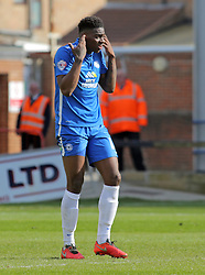 Ricardo Almeida Santos of Peterborough United after scoring an own goal - Mandatory by-line: Joe Dent/JMP - 23/04/2016 - FOOTBALL - ABAX Stadium - Peterborough, England - Peterborough United v Scunthorpe United - Sky Bet League One