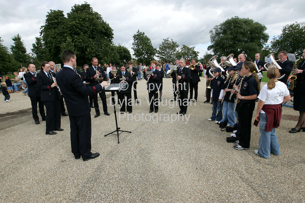 29/8/2004.The Barrack Street Band from Waterford pictured at the music rally in the Peoples Park in  Waterford on Saturday as part of a protest over the the increasing of fees at the Waterford School of Music..Picture Dylan Vaughan