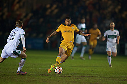 NEWPORT, WALES - Wednesday, December 21, 2016: Newport County's Joss Labadie in action against Plymouth Argyle during the FA Cup 2nd Round Replay match at Rodney Parade. (Pic by David Rawcliffe/Propaganda)