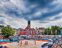 19-07-2018 NED: CEV DELA Beach Volleyball European Championship day 5<br /> Venue Neude Utrecht with the T Mobile dance girls