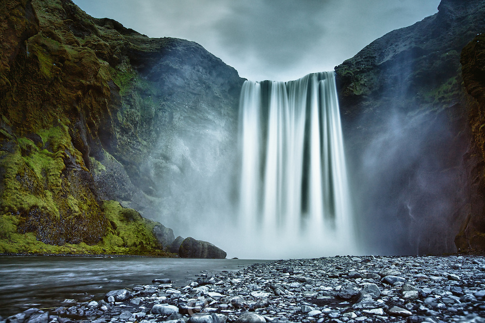 Skogafoss on the south coast of Iceland