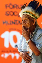 Um índio Ianomani é visto durante seminário do Fórum Social Mundial 2010, em Porto Alegre. FOTO: Jefferson Bernardes/Preview.com