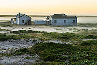 Old guano and egg collecting houses on Dassen Island; Dassen Island; South Africa