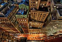 architecture Photography New York City | Vertigo | New Street at night | Financial District, Manhattan, NYC, USA