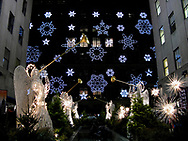 Angels and Snowflakes decorations at Rockefeller Center