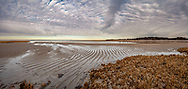 Clouds and sandbars lead the eye to the horizon at Quivett Creek.