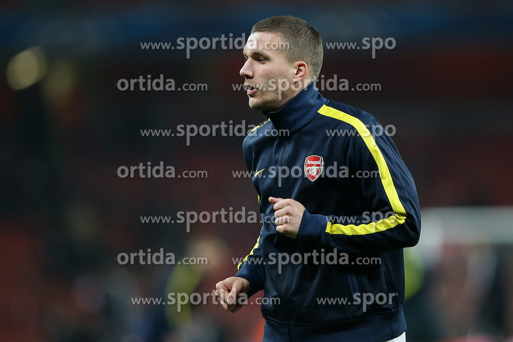 19.02.2013, Emirates Stadion, London, ENG, UEFA Champions League, FC Arsenal vs FC Bayern Muenchen, Achtelfinale Hinspiel, im Bild, Lukas PODOLSKI (FC Arsenal London - 9) Freisteller // during the UEFA Champions League last sixteen first leg match between Arsenal FC and FC Bayern Munich at the Emirates Stadium, London, Great Britain on 2013/02/19. EXPA Pictures © 2013, PhotoCredit: EXPA/ Eibner/ Gerry Schmit..***** ATTENTION - OUT OF GER *****