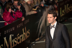 © licensed to London News Pictures. London, UK 05/12/2012. Matthew Morrison attending World Premiere of Les Miserables in Leicester Square, London. Photo credit: Tolga Akmen/LNP