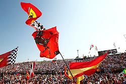 Motorsports / Formula 1: World Championship 2010, GP of Hungary, flag, flags, Fahne, Fahnen, Flagge, Flaggen, Fan, Fans, Scuderia Ferrari Marlboro