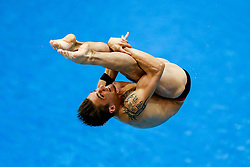 Eventual Bronze medallist Matthieu Rosset of France in action during the Mens 1m Springboard Final - Photo mandatory by-line: Rogan Thomson/JMP - 07966 386802 - 19/08/2014 - SPORT - DIVING - Berlin, Germany - SSE im Europa-Sportpark - 32nd LEN European Swimming Championships 2014 - Day 7.