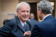 MSNBC host Chris Matthews. The Democrate and Republican nominees for US President, Hillary Rodham Clinton and Donald John Trump, met on Sep. 26th for the first head to head Presidential Debate at the Hofstra University in Long Island.