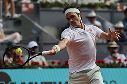 May 9, 2019 - Madrid, Madrid, Spain - Roger Federer during the Mutua Madrid Open Masters match on day 7 at Caja Magica in Madrid, Spain. May 09, 2019. (Credit Image: © A. Ware/NurPhoto via ZUMA Press)