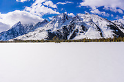 The Tetons in winter, Grand Teton National Park, Wyoming USA