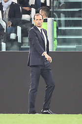 September 27, 2017 - Turin, Italy - Juventus coach Massimiliano Allegri during the Uefa Champions League group stage football match n.2 JUVENTUS - OLYMPIACOS on 27/09/2017 at the Allianz Stadium in Turin, Italy. (Credit Image: © Matteo Bottanelli/NurPhoto via ZUMA Press)