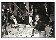 Warren Beatty, Jack Nicholson & Isobel Goldsmith at Swifty Lazar's Oscar Night party. Spago. Los Angeles. March 1990.