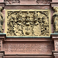 Heidelberg Castle Palatine Coat of Arms in Heidelberg, Germany <br />