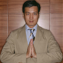 Aug. 23, 2012 - Businessman praying (Credit Image: © Image Source/ZUMAPRESS.com)