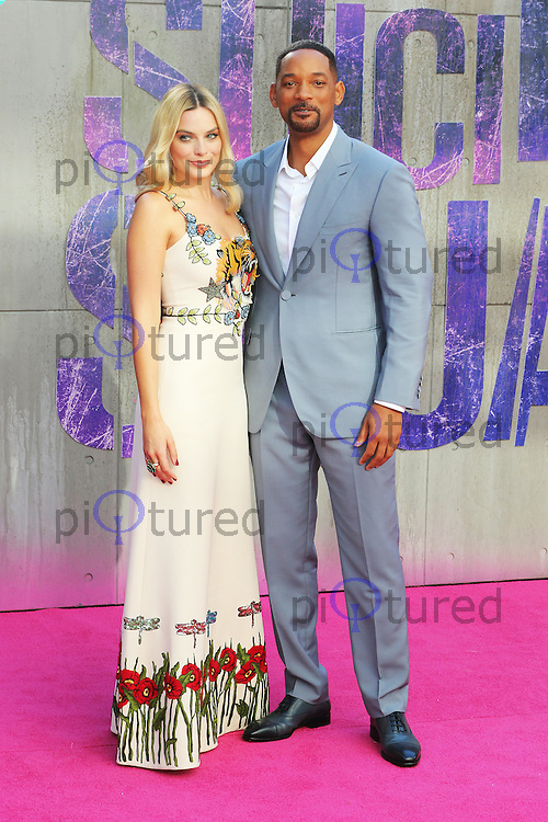 Margot Robbie, Will Smith, Suicide Squad - European Film Premiere, Leicester Square, London UK, 3 August 2016, Photo by Richard Goldschmidt