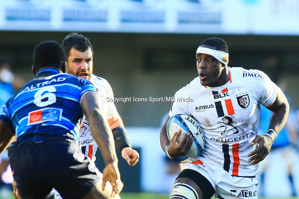 Yannick NYANGA - 20.12.2014 - Montpellier / Stade Toulousain - 13eme journee de Top 14 -<br />Photo : Nicolas Guyonnet / Icon Sport
