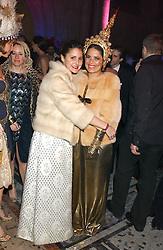 Left to right, NIKKI PENNIE and Fashion designer DANIELLA HELAYEL at Andy & Patti Wong's annual Chinese New Year party, this year celebrating the year of the dog held at The Royal Courts of Justice, The Strand, London WC2 on 28th January 2006.<br />