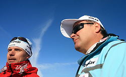 Coach Ivan Hudac and Primoz Ulaga of SZS at 10th OPA - Continental Cup 2008-2009, on January 17, 2009, in Rogla, Slovenia.  (Photo by Vid Ponikvar / Sportida)