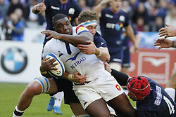 France's Demba Bamba during Rugby Guinness 6 Nations Tournament, France vs Scotland in Stade de France, St-Denis, France, on February 23rd, 2019. France won 27-10 Photo by Henri Szwarc/ABACAPRESS.COM