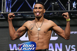 Las Vegas, Nevada, USA - July 4, 2014: Ildemar Alcantara steps on the scale for his  preliminary card bout at UFC 175 at the Mandalay Bay Events Center in Las Vegas, Nevada.  Ed Mulholland for ESPN