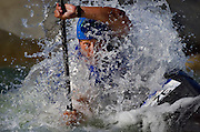 Czech Jiri Prskavec competes during the men's white water slalom event at the Olympic Games in Sydney, Australia. (2000)