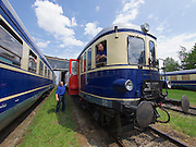 Strasshof, Austria.<br /> Triebwagentage (railcar days) at Das Heizhaus - Eisenbahnmuseum Strasshof, Lower Austria's newly designated competence center for railway museum activities.<br /> BBÖ VT 42/ÖBB 5042 diesel electric railcar, built 1935-36, running until 1989.