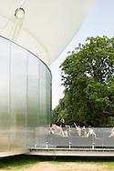 SERPENTINE PAVILION 2006, LONDON, W2 PADDINGTON, UK, REM KOOLHAAS - OFFICE FOR METROPOLITAN ARCHITECTURE, EXTERIOR, DETAIL OF ENTRANCE