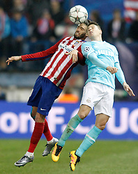 15-03-2016 ESP, UEFA CL, Atletico Madrid - PSV Eindhoven, Madrid<br /> Atletico de Madrid's Yannick Carrasco (l) and PSV Eindhoven's Marco Van Ginkel // during the UEFA Champions League Round of 16, 2nd Leg match between Atletico Madrid and PSV Eindhoven at the Estadio Vicente Calderon in Madrid, Spain on 2016/03/15. <br /> <br /> ***NETHERLANDS ONLY***