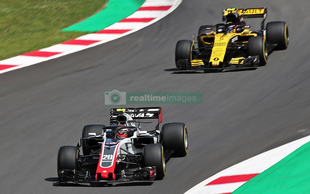 May 13, 2018 - Barcelona, Spain - Kevin Magnussen, team Haas, and Carlos Sainz, team Renault, during the GP Spain F1, on 13th May 2018 in Barcelona, Spain. (Credit Image: © Joan Valls/NurPhoto via ZUMA Press)