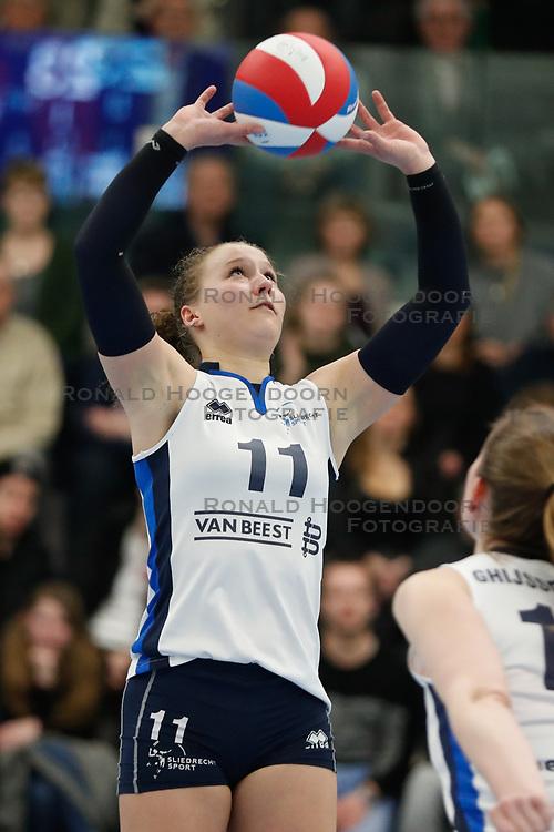 20180303 NED: Eredivisie Sliedrecht Sport - VC Sneek, Sliedrecht <br />Ana Rekar (11) of Sliedrecht Sport <br />©2018-FotoHoogendoorn.nl / Pim Waslander