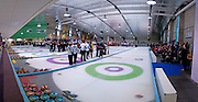 World Curling championships closing ceremony, Dumfries Ice Bowl, Scotland, April 2014
