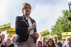 Nicola Sturgeon last day of Electioneering | Edinburgh | 7 June 2017