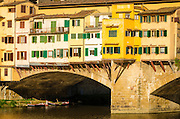 Shop windows and shutters, Ponte Vecchio, Florence, Tuscany, Italy