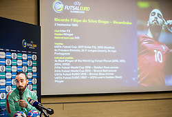 Ricardinho - Ricardo Filipe da Silva Braga of Portugal during press conference of UEFA Futsal EURO 2018 before friendly match between National teams of Slovenia and Portugal, on December 4, 2017 in Austria Trend Hotel, Ljubljana, Slovenia. Photo by Vid Ponikvar / Sportida