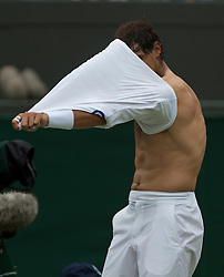 LONDON, ENGLAND - Saturday, June 25, 2011: Rafael Nadal (ESP) in action during the Gentlemen's Singles 3rd Round match on day six of the Wimbledon Lawn Tennis Championships at the All England Lawn Tennis and Croquet Club. (Pic by David Rawcliffe/Propaganda)