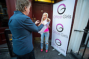 """Former Big Brother star Frenchy arrives in London to audition for """"Office Girls"""" a new show being promoted by Marvin Howell who first discovered Lady Gag and Ellis Rich MBE, who signed blondy to EMI and also worked with Queen,  """"Office Girls"""" are searching for Just that girls from everyday office jobs to audition for a place in a new formed girl Group. Fenchy who turned up to audition which is  judged by fellow Big Brother house mate Dee Kelly, Frenchy was was later asked to leave the show because she gate crashed the event for the publicity as tension grew when she was asked to leave , Frenchy began screaming and shouting , throwing and ripping down the stage, Barry Tomes agent for White Dee took her outside to try and control Frenchy who clearly was not happy<br /> ©Exclusivepix Media"""