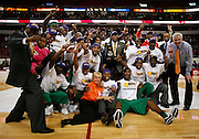 Florida A&M celebrate the 2007 MEAC Basketball Tournament Championship at the RBC Center in Raleigh, North Carolina.  March 10, 2007  (Photo by Mark W. Sutton)