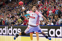Igor Vori of Croatia during handball match between Serbia and Croatia in 2nd Semifinal at 10th EHF European Handball Championship Serbia 2012, on January 27, 2012 in Beogradska Arena, Belgrade, Serbia.  (Photo By Vid Ponikvar / Sportida.com)