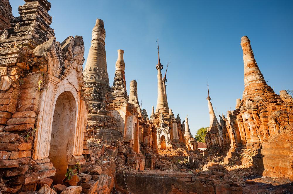 Buddhist stupas in Indein (Inle Lake, Myanmar)