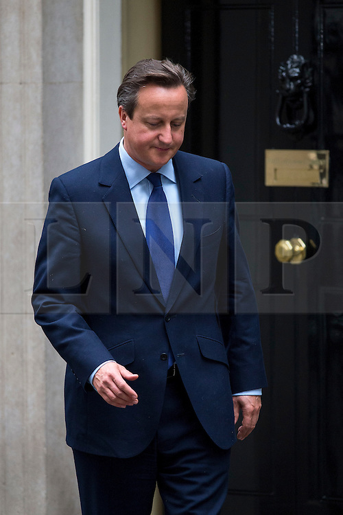 © Licensed to London News Pictures. 21/09/2015. Westminster, UK. British prime minister DAVID CAMERON greeting Danish prime minister LARS LOKKE RASMUSSEN  outside 10 Downing Street on September 21, 2015. A new new book, written by conservative donor Lord Ashcroft, has made claims about David Cameron's personal and political past.  Photo credit: Ben Cawthra/LNP