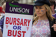 4 June 2016 - Student nurses march in London to defend the NHS bursary.