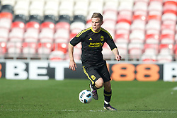 BLACKPOOL, ENGLAND - Wednesday, March 3, 2011: Liverpool's Alex Cooper in action against Blackpool during the FA Premiership Reserves League (Northern Division) match at Bloomfield Road. (Photo by David Rawcliffe/Propaganda)