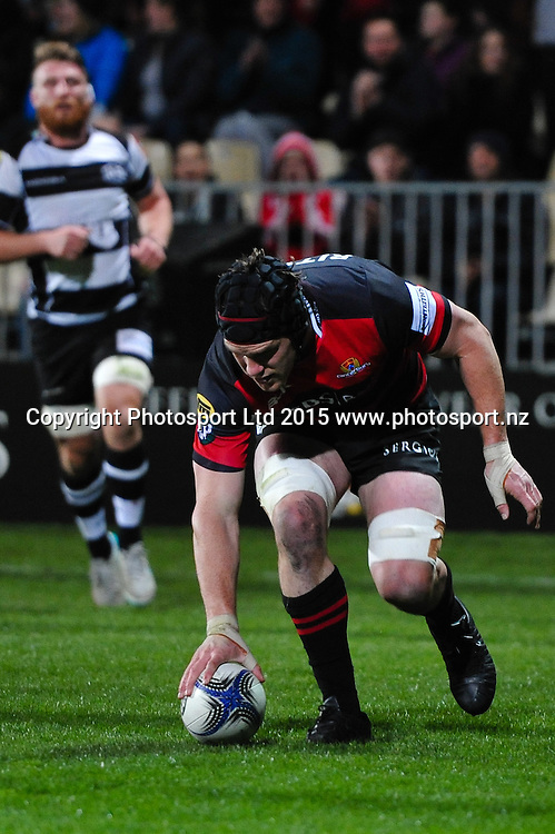 Matt Todd of Canterbury scores a try during the ITM Cup rugby match, Canterbury v Hawke's Bay, at AMI Stadium, Christchurch, on the 12th September 2015. Copyright Photo: John Davidson / www.photosport.nz
