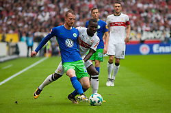 September 16, 2017 - Stuttgart, Germany - Chadrac Akolo (Stuttgart) tries to get the ball, while Wolfsburgs Maximilian Arnold defences / Bundesliga match VfB Stuttgart vs VfL Wolfsburg, September 16, 2017. (Credit Image: © Bartek Langer/NurPhoto via ZUMA Press)