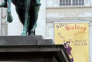 """Wien/Oesterreich, AUT, 21.12.2007: Plakatwerbung für die Ausstellung """"Alles Walzer"""" mit ueberwiegend Postern und Plakaten zum Thema Walzer in der österreichischen Nationalbibliothek.<br /> <br /> Vienna/Austria, AUT, 21.12.2007: Billboard for the exhibition """"Alles Walzer"""" with posters and billboards about Waltz at the Austrian National Library."""