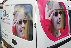 Mysight van - visually impaired girl image and brand